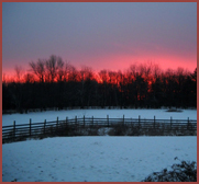 sunrise at Red Pony Farm